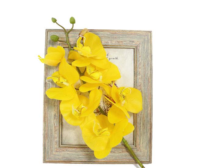 Искусственная ветка Орхидеи желтая