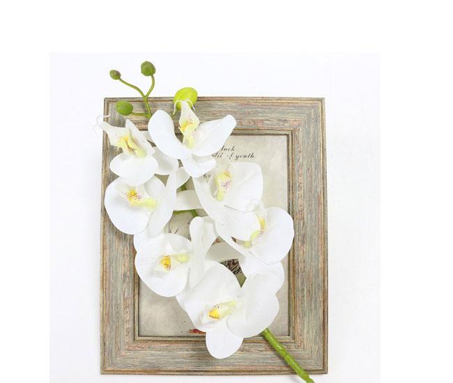 Искусственная ветка Орхидеи белая