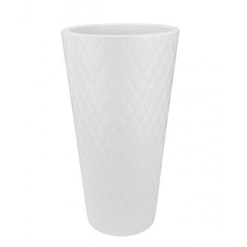 Вазон Elho Pure Straight Crystal High Белый 80х42,4