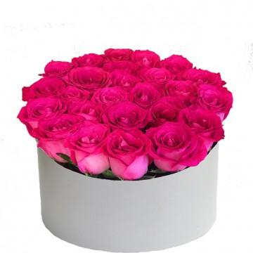 Букет в коробке №1 розы 25штук