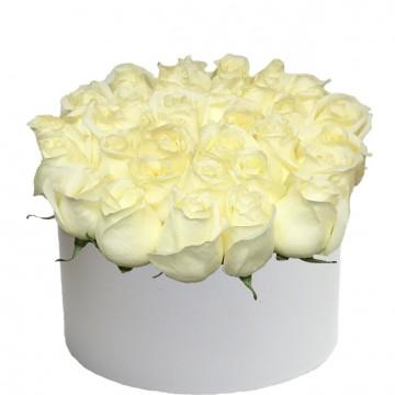 Букет в коробке №3 розы 25штук