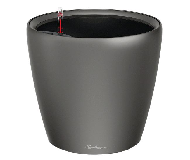 Вазон Classico Premium LS 28 Антрацитовый металик (с кашпо и гидросистемой)