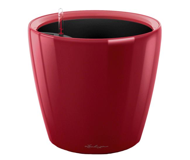Вазон Classico Premium LS 28 Красный глянец (с кашпо и гидросистемой)