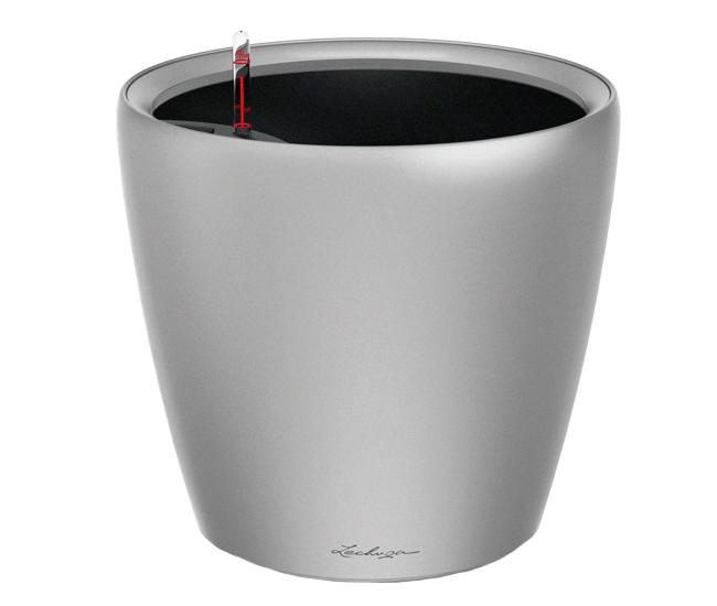 Вазон Classico Premium LS 28 Серебристый отлив (с кашпо и гидросистемой)