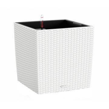 Вазон Cube Cottage 50 Белый (с кашпо и гидросистемой) под заказ