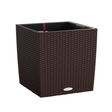 Вазон Cube Cottage 40 Мокко (с кашпо и гидросистемой)