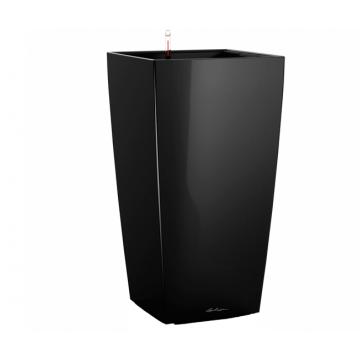 Вазон Cubico 40 Черный глянец (с кашпо и гидросистемой)
