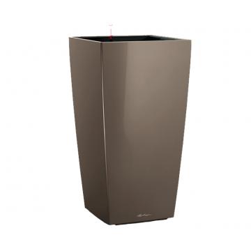 Вазон Cubico 40 Серо-коричневый глянец (с кашпо и гидросистемой)