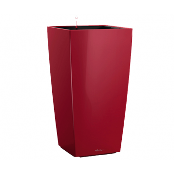 Вазон Cubico 50 Красный глянец (с кашпо и гидросистемой) под заказ