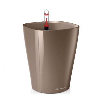 Вазон Deltini 14 Серо-коричневый глянец (с кашпо и гидросистемой)