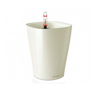 Вазон Deltini 14 Белый глянец (с кашпо и гидросистемой)