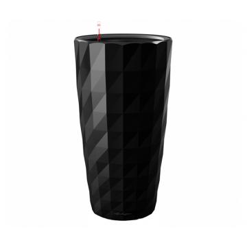 Вазон Diamante Черный глянец (с кашпо и гидросистемой)