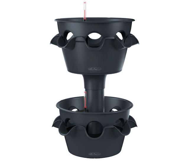 Вазон 2-ярусный Cascada Color Серый (с кашпо и гидросистемой)