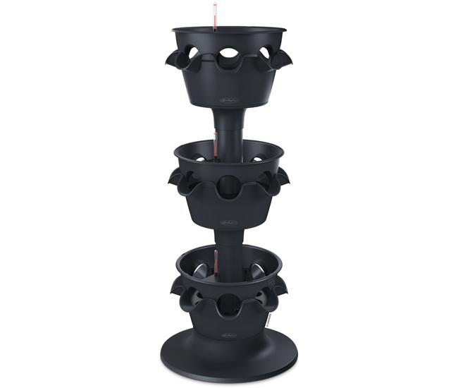 Вазон 3-ярусный Cascada Color Серый (с кашпо и гидросистемой)