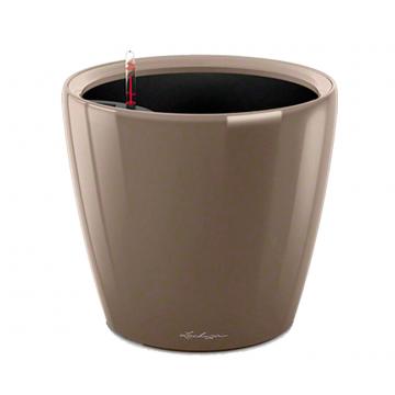 Вазон Classico Premium LS 21 Серо-коричневый глянец (с кашпо и гидросистемой)