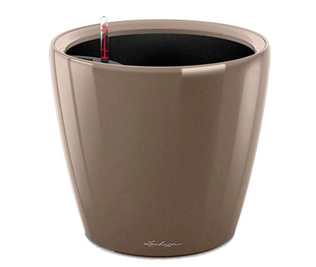 Вазон Classico Premium LS 28 Серо-коричневый глянец (с кашпо и гидросистемой)