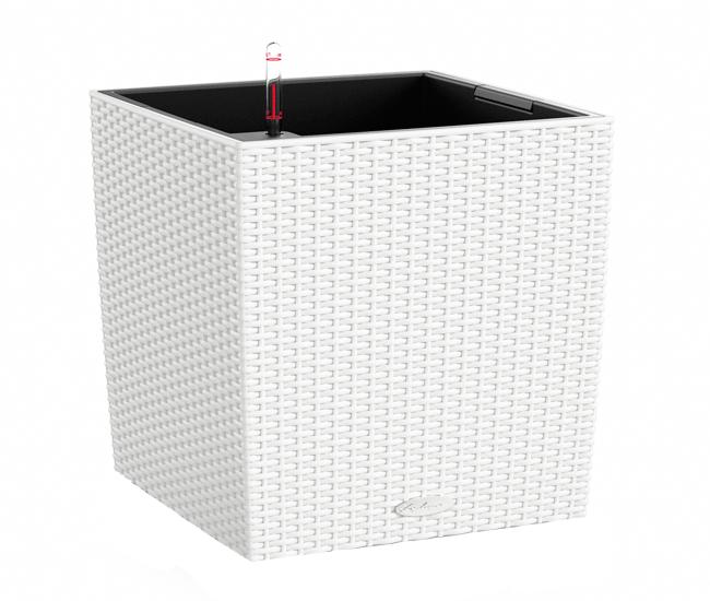 Вазон Cube Cottage 30 Белый (с кашпо и гидросистемой)