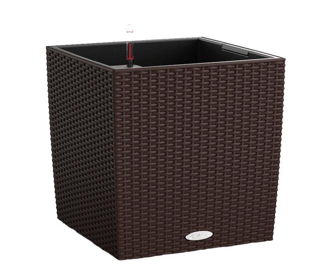 Вазон Cube Cottage 30 Мокко (с кашпо и гидросистемой)