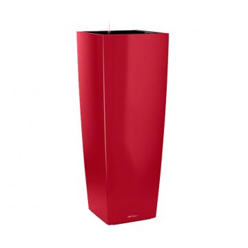 Вазон Cubico Alto красный глянец (с кашпо и гидросистемой)