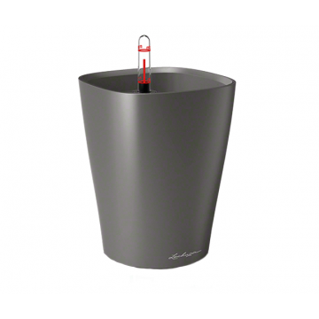 Вазон Deltini 14 Антрацит (с кашпо и гидросистемой) под заказ