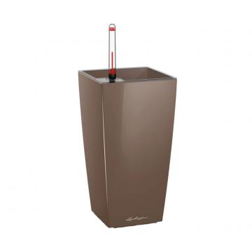 Вазон Maxi Cubico Серо-коричневый глянец (с кашпо и гидросистемой)