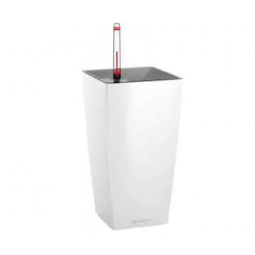 Вазон Maxi Cubico Белый глянец (с кашпо и гидросистемой)