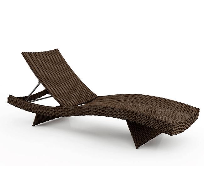 Шезлонг Mara (Royal) коричневый